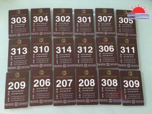 In thẻ từ khách sạn, thẻ từ thang máy tại Quảng Ninh - Thẻ nhựa cứng pvc