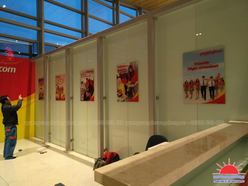 In tranh trang trí tại sân bay Vân Đồn