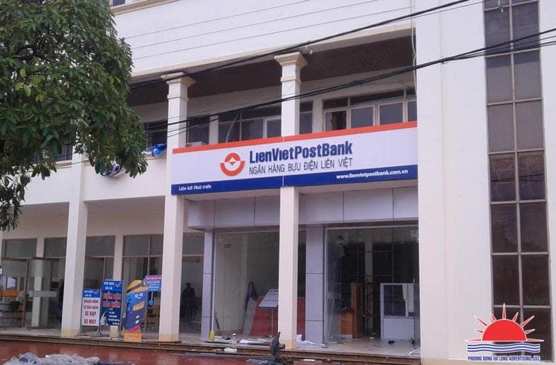 Thi công biển quảng cáo Liên Việt Post Bank