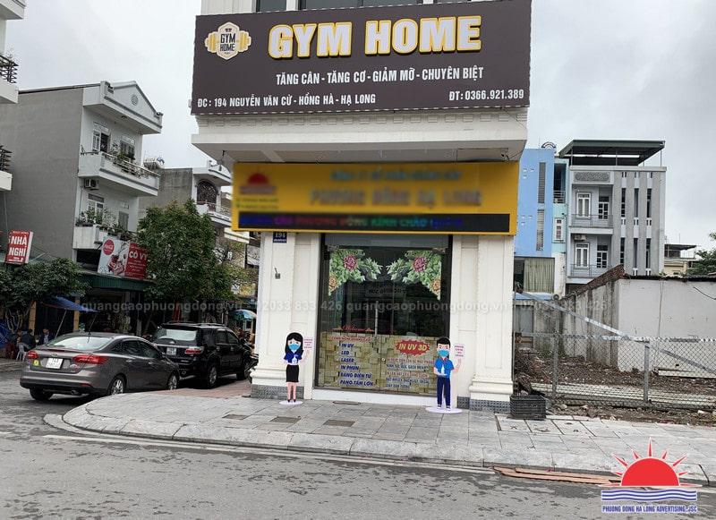 Làm biển quảng cáo phòng tập gym tại Quảng Ninh