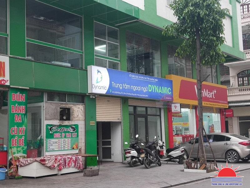 Làm biển quảng cáo trung tâm ngoại ngữ tại Hạ Long, Quảng Ninh