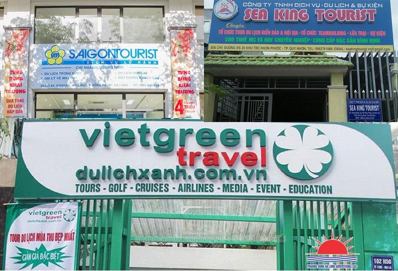 biển quảng cáo công ty du lịch tại Quảng Ninh đẹp