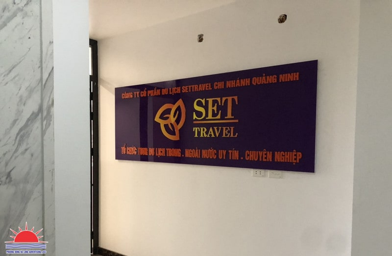 Backdrop công ty du lịch