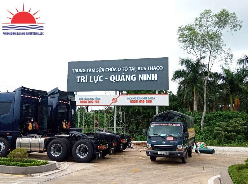 Thi công biển quảng cáo showroom ô tô tại Quảng Ninh