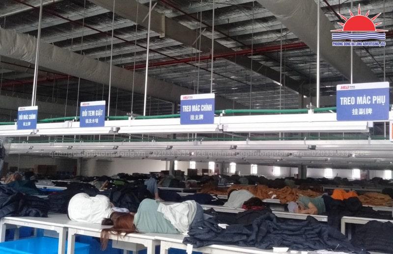 Thi công lắp đặt biển trong nhà máy Hoa Lợi Đạt Quảng Ninh