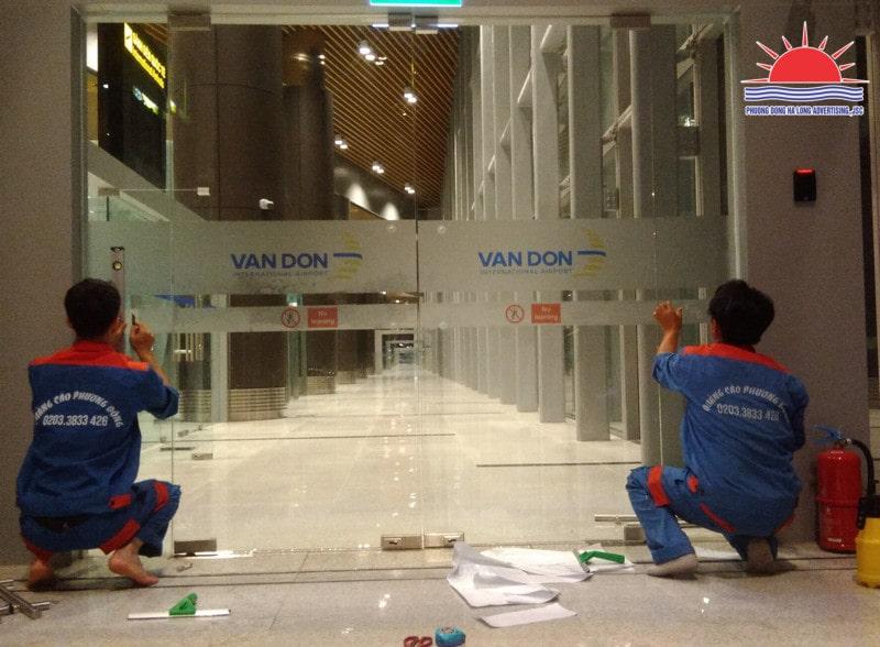 Thi công trang trí quảng cáo tại sân bay Vân Đồn