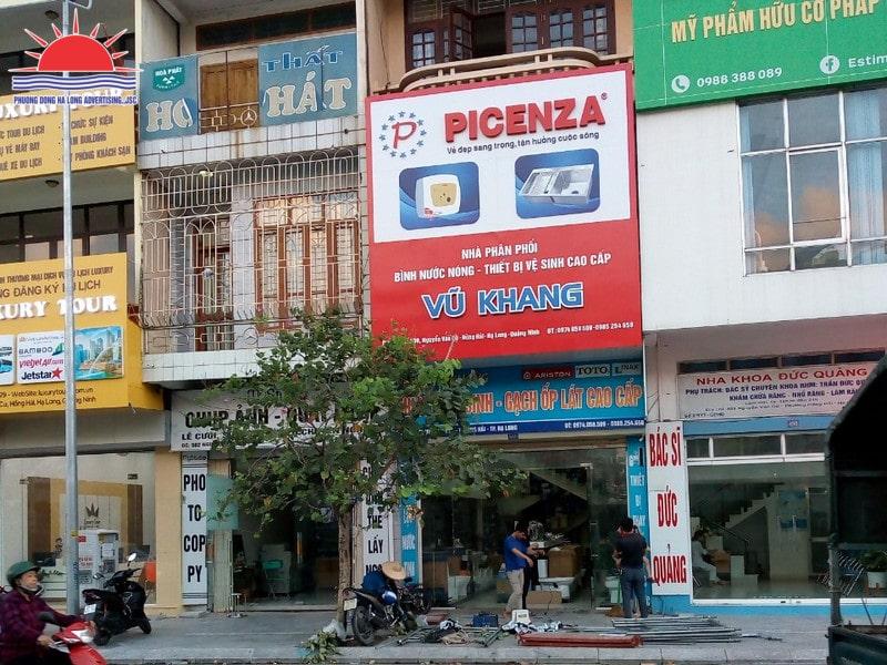 Thi công biển quảng cáo cửa hàng điện nước Quảng Ninh