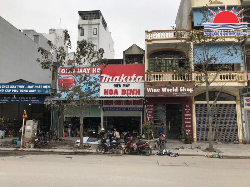 Biển quảng cáo cửa hàng thiết bị điện nước tại Quảng Ninh