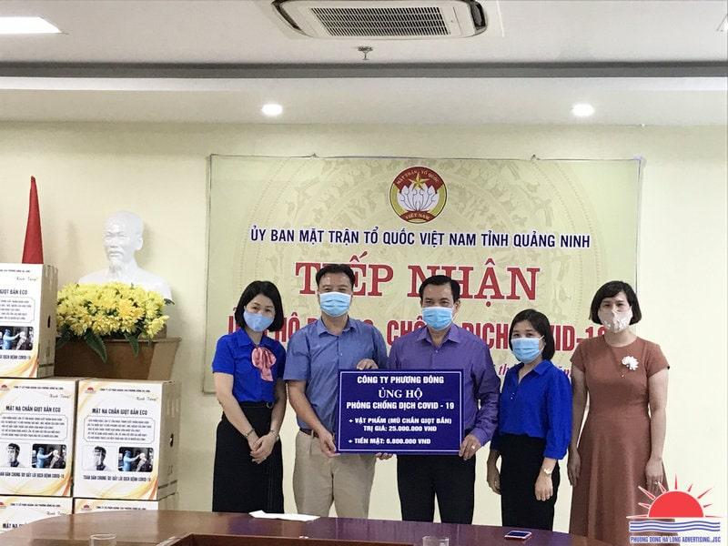 Công ty Phương Đông Hạ Long Chung tay ủng hộ quỹ phòng chống Covid-19 tỉnh Quảng Ninh