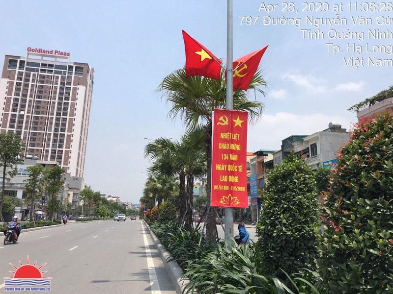 Treo banner tuyên truyền hạ long