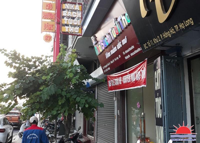 Biển quảng cáo nhà sách tại Quảng Ninh