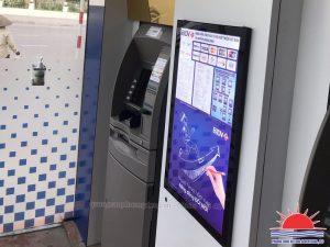 Lắp đặt tranh điện trang trí Booth ATM tại Quảng Ninh
