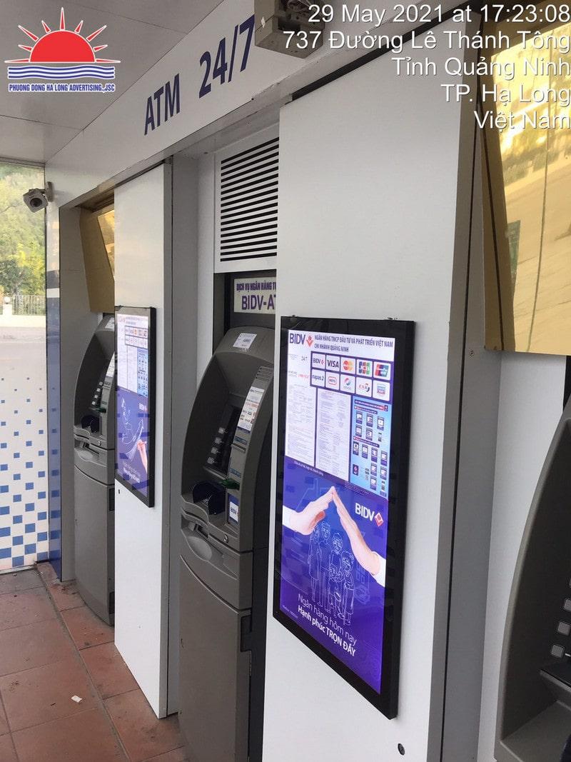 Lắp đặt tranh điện trang trí ATM tại Quảng Ninh