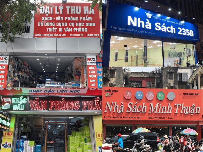 Mẫu biển quảng cáo nhà sách Quảng Ninh đẹp