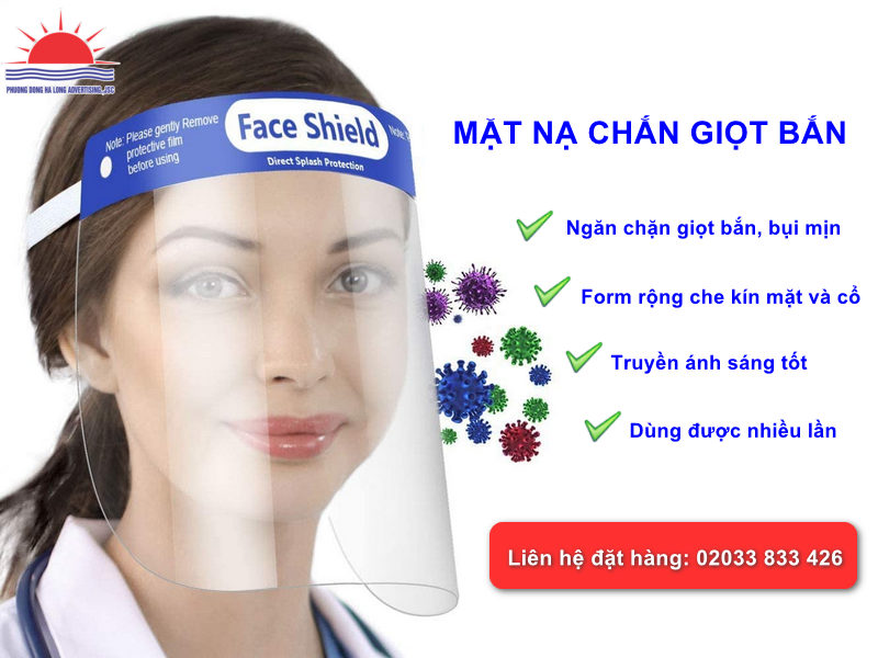 Sản xuất mặt nạ chắn giọt bắn tại Quảng Ninh