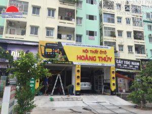 Thi công biển quảng cáo nội thất ô tô Hoàng Thủy ở Hạ Long