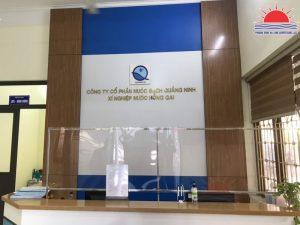 Mẫu backdrop văn phòng công ty đẹp tại Hạ Long Quảng Ninh