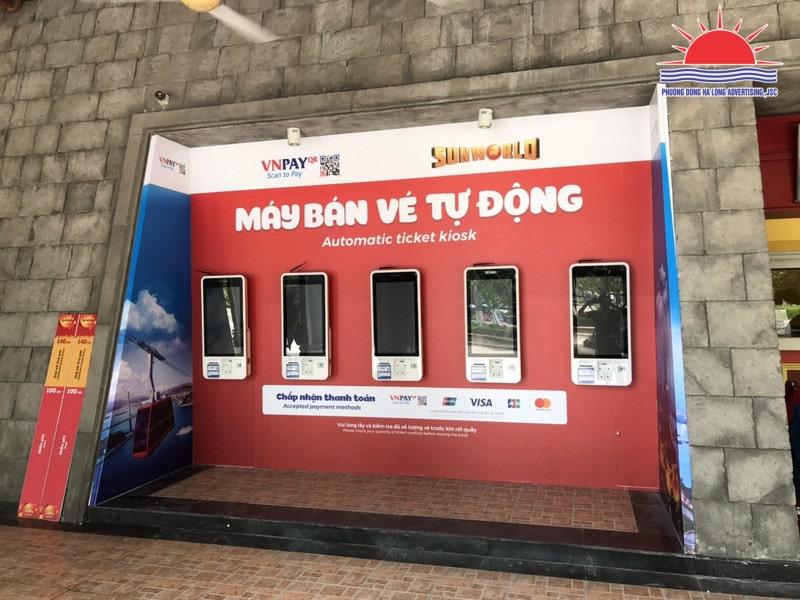 Thi công trang trí quầy vé tự động tại Quảng Ninh
