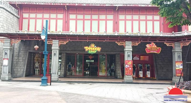 Trang trí máy bán vé tự động tại Sunworld Hạ Long