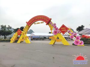 Thi công cổng hội chợ hoa xuân tại Quảng Ninh năm 2021