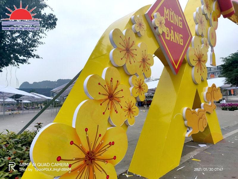 Thi công cổng hội chợ hoa xuân