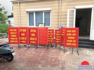 In ấn và sản xuất biển báo phòng chống covid-19 tại Quảng Ninh
